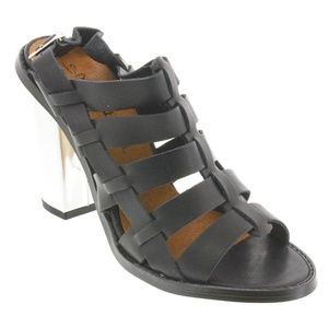 SixtySeven 67 Brandy Leather Heels Size EU40/US10